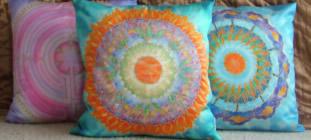 silk mandala cushions