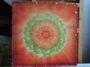 Silk mandala painting on frame