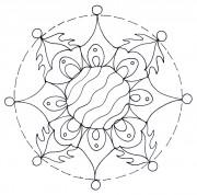 Free Mandala Template 003