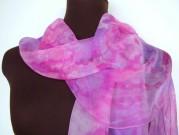 Orchid Silk Chiffon Scarf