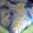 Spring Leaf Silk Cushion