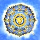 Third eye chakra, silk painting, mandala, fiona stolze, silkandart