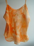 Orange Silk Camisole Top
