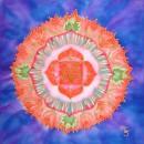 base chakra, mandala, silk painting, fiona stolze, silkandart