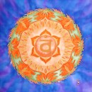 sacral chakra, mandala, silk painting, fiona stolze, silkandart