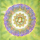 heart chakra, silk painting, mandala, fiona stolze, silkandart