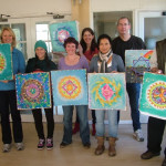 mandala workshop participants