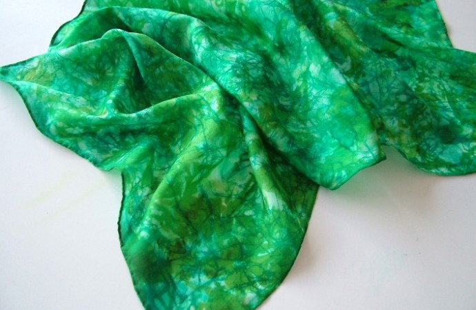 Green Chrysocolla Inspired Scarf